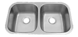 50/50 Polished Stainless Steel Sink