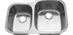 60/40 Reverse Split Polished Sink