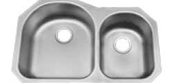 70/30 Split Polished Sink