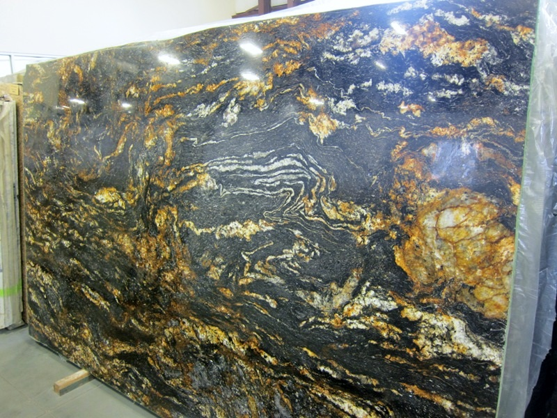 cambrian black leathered granite